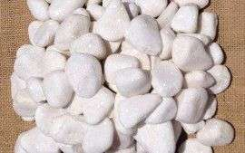 Snow White Pebbles 20 - 40mm