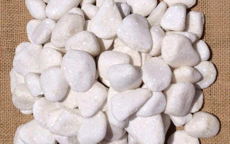 Snow White Pebbles 20 - 40mm
